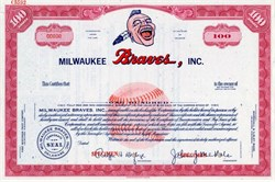 Milwaukee Braves, Inc. (Pre Atlanta Braves)  - Delaware