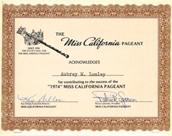Miss California Pageant - California 1974