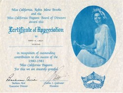 Miss California Robin Jelene Brooks - California 1980-1981