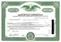 Micro-Metals Corporation
