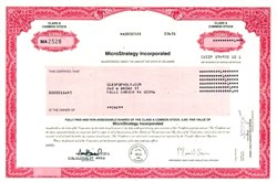 MicroStrategy Incorporated (Major Bitcoin Owner) - 2001