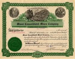 Miami Consolidated Mines Company ( Mining Scam)  - Gila. Miami. Arizona 1916