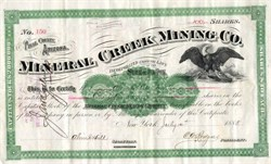 Mineral Creek Mining Co.  Pinal County, Arizona Territory  - New York 1888