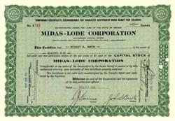 Midas-Lode Corporation - Nevada