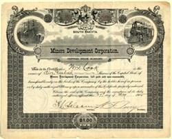Miners Development Corporation - South Dakota 1905