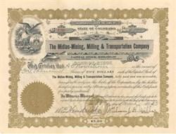 Midlan-Mining, Milling & Transportation Company 1923 - Colorado