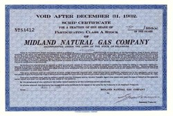 Midland Natural Gas Company 1930