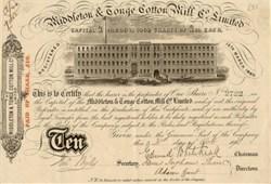 Middleton & Tonge Cotton Mill Company, Ltd. 1871