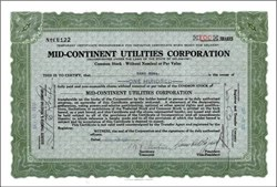 Mid-Continent Utilities Corporation 1931
