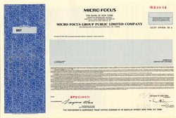 Micro Focus Group Public Limited Company - England 1990
