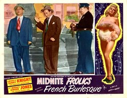 Midnite Frolics Lobby Card starring Sunny Knight and Mickey Ginger Jones