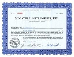 Miniature Instruments, Inc. - Minnesota