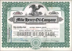 Mike Henry Oil Company 1920's