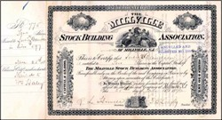 Millville Stock Building Association 1892 - New Jersey