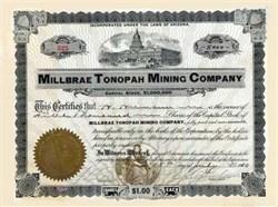 Millbrae Tonopah Mining Company 1900