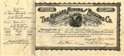 Midland Mining and Milling Co. - Gunnison, Saguache County, Colorado 1892