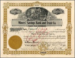 Miners' Savings Bank and Trust Co. 1914 - Butte, Montana