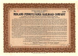 Midland Pennsylvania Railroad Company - Pennsylvania 1910