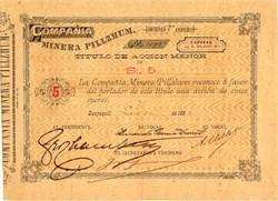 Minera Pillzhum (La Compania)  - Guayaquil, Equador -  1892