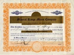 Mineral Range Mines Company - Utah 1923