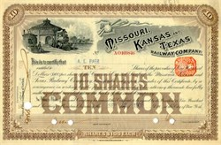 Missouri, Kansas and Texas Railway Company (MKT) - 1892
