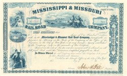 Mississippi & Missouri Rail Road Company signed by General and Governor John Dix