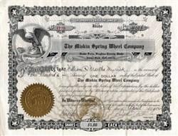 Miskin Spring Wheel Company - Idaho 1912