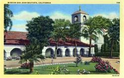 Mission San Juan Bautista, California Postcard