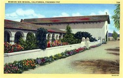 Mission San Miguel, California Postcard