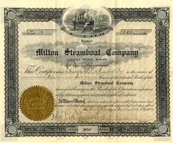 Milton Steamboat Company - Delaware 1903