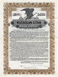 Michigan Utah Mining Company - Utah 1912