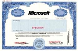 Microsoft Corporation - Bill Gates as Chairman (Rare Specimen)