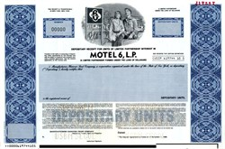Motel 6, Limited Partnership (Rare Specimen)  - Delaware 1989