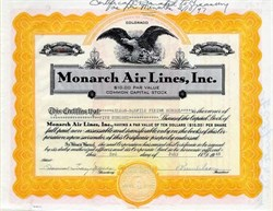 Monarch Air Lines, Inc. (Became Frontier Airlines)  - Colorado 1946