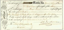 Mobile Alabama Exchange Check 1845