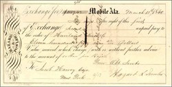 Exchange Check - Mobile Alabama 1840