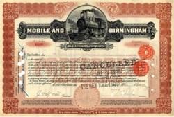 Mobile and Birmingham Railroad Company 1899