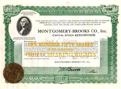 Montgomery Brooks Company 1919 - Boston, Massachusettes