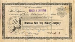 Montana Bull Frog Mining Company - Bull Frog Mining District, Nevada - 1906