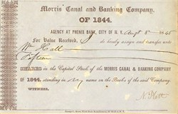 Morris Canal and Banking Company of 1844 - New York