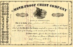 Moth-Proof Chest Company - Pennsylvania 1872