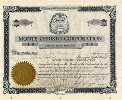 Monte Christo Corporation - Washington 1926
