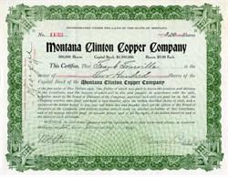 Montana Clinton Copper Company - Laurium, Michigan 1910