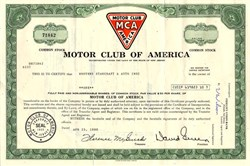 Motor Club of America - New Jersey 1988