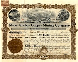 Moon-Anchor Copper Mining Company - Encampment, Carbon Co., Wyoming 1902