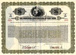 Mortbon Corporation of New York  - New York 1935