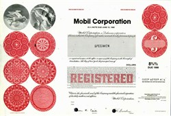 Mobil Corporation Specimen - Pre Exxon Merger - 1982