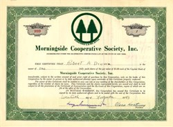 Morningside Cooperative Society, Inc. - New York 1947