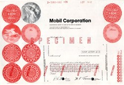 Mobil Corporation Specimen - 1981