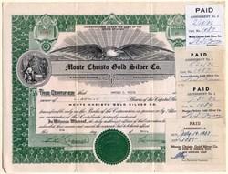 Monte Christo Gold Silver Company - Utah 1937